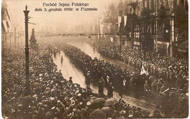 Pochód Sejmu Polskiego w Poznaniu 3 grudnia 1918