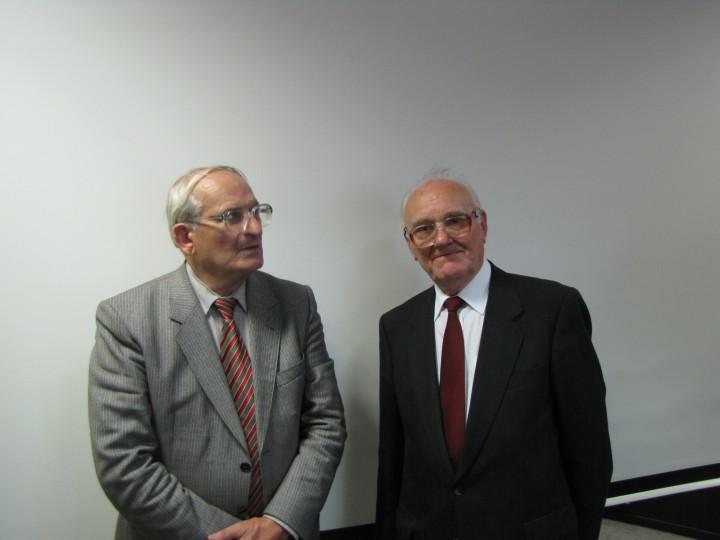 2010-05-29 Warszawa. AJ. Omelaniuk z Józefem Gajdą, przez długie lata dokumentującym działania Rady Krajowej