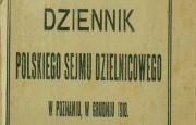 Dziennik Polskiego Sejmu Dzielnicowego