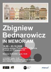 Zbigniew Bednarowicz. In memoriam